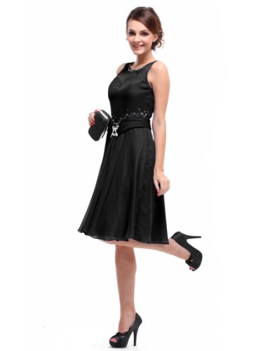 Ever Pretty Women's Sleeveless Rhinestones Short Bridesmaid Party Dress 03521