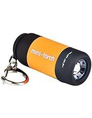 LACKINGONE - Linterna LED de bolsillo recargable por USB, mini llavero con linterna de camping