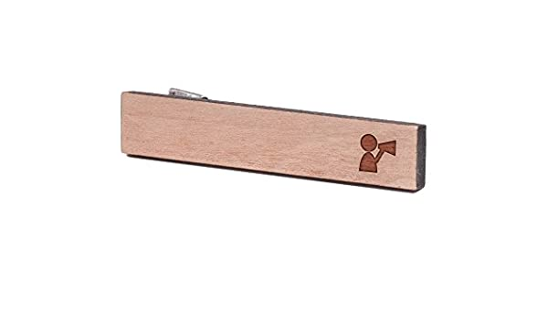 Cherry Wood Tie Bar Engraved in The USA Wooden Accessories Company Wooden Tie Clips with Laser Engraved Orchestra Conductor Design