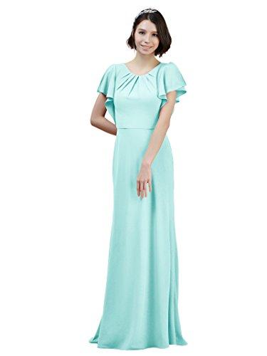 Party Gown Train w Dresses Light Chiffon Bridesmaid Evening Mermaid Formal Blue Maxi Alicepub FwATUU