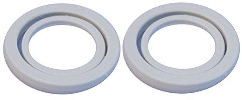 2 Stück Kopfdichtung grau für alle iSi Sahnespender mit Kunststoffkopf
