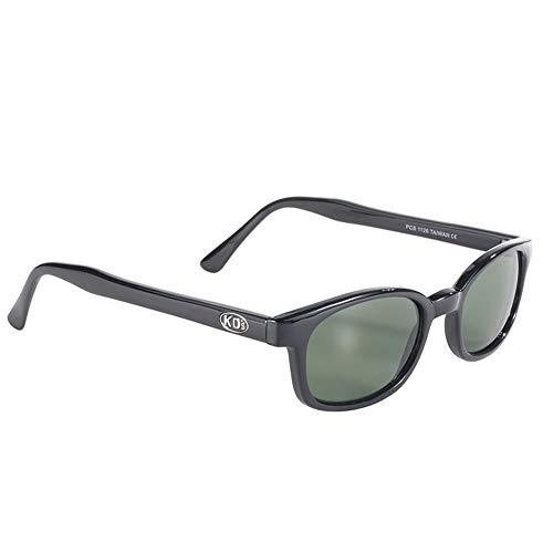 Original X-KDs Biker Green Lens Black Frames 20% Sunglasses
