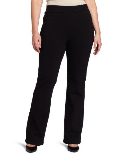 NYDJ Women's Plus-Size Belinda Ponte Bootleg Pant, Black, 24W