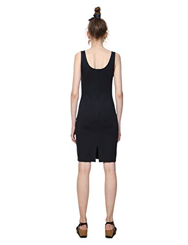 2000 Donna Coque Vestito Desigual negro Nero qXECxT