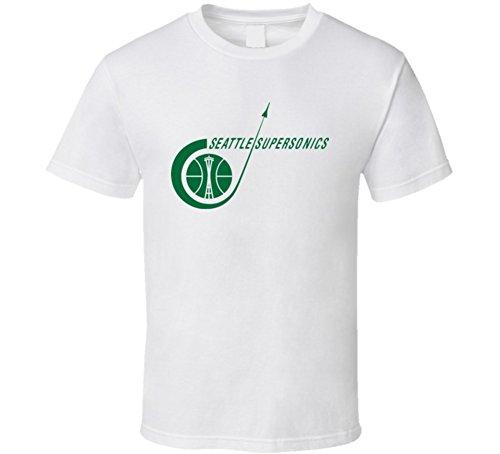 Seattle Supersonics T-shirt - Seattle Supersonics Retro Logo T Shirt 2XL White