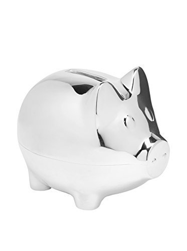 Elegant Baby Baby Silver-Plated Piggy Bank