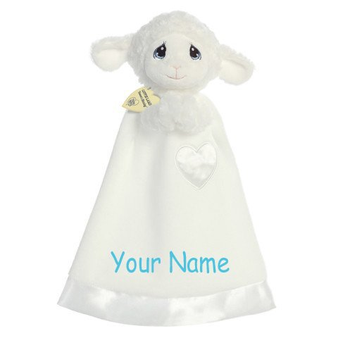 Personalized Luffie Lamb Luvster Baby Plush Snuggle Blanket Gift ()