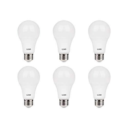 LUNO A19 Dimmable LED Bulb, 11W (75W Equivalent), 1100 Lumens, 2700K (Soft White), Medium Base (E26),UL & Energy Star -