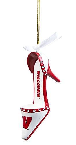 Wisconsin Badgers High Heeled Shoe Ornament from Evergreen Enterprises