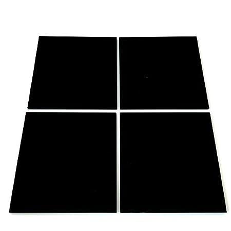 Black Square Mosaic Wall Tiles - Pack of 10 - 3cm x 3cm