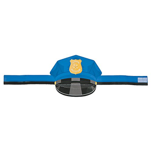 [Police Department Paper Hat - 12 Pieces] (Policeman Uniform)