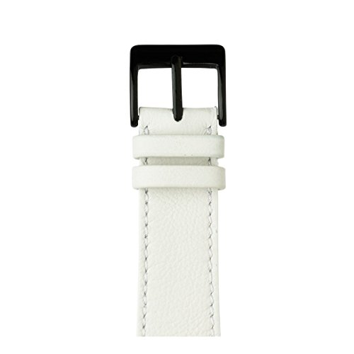Roobaya | Premium Sauvage Leather Apple Watch Band in White | Includes Adapters matching the Color of the Apple Watch, Case Color:Space Black Stainless Steel, Size:42 mm by Roobaya