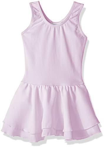 Capezio Girls' Little Classic Double Layer Skirt Tank Dress, Lavender, Intermediate