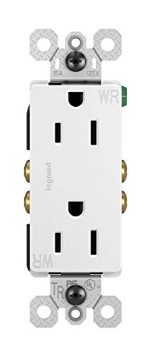 Legrand - Pass & Seymour radiant 885TRWRWCC8 Tamper-Resistant/Weather-Resistant Outdoor 15 Amp Duplex Outlet, White
