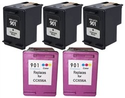 SuppliesOutlet HP 901 Compatible Ink Cartridge Value Bund...