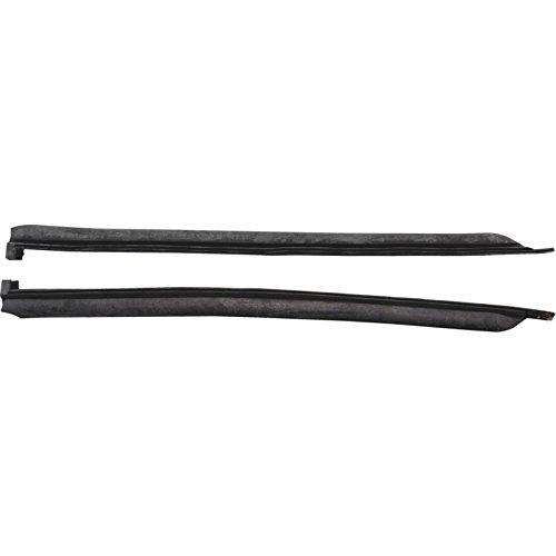 MACs Auto Parts 60-48066 Quarter Window Vertical Seals - 2 Door Hardtop Fastback Body Style 63 & Convertible (Convertible Window Quarter)
