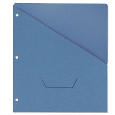 Universal Slash-Cut Pockets for Three-Ring Binders, Jacket, Letter, 11 Pt., Blue, 10/Pack (61681)