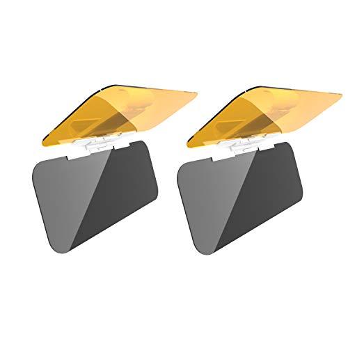 DIFINES 2 X Car Sun Visor for Day and Night, 2 in 1 Anti-Glare Car Visor Extender, Automotive Sun Visor Universal Windshield Driving Visor