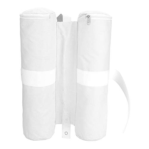 Dioche Tent Weight Bags, Canopy Weighted Sand Bags Pop-up Sunshade Tent Foot Outdoor Sun Shelter Legs 1 PSC (White)