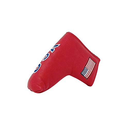 And Etcetera Golf Blade Putter USA Flag Headcover Synthetic Leather Magnetic Closure for Scotty Cameron Odyssey Taylormade Ping Callaway (Red)