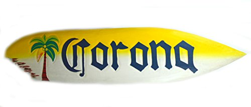 huge-5-wooden-corona-surfboard-big-kahuna-shark-bite-palm-tree-bar-beer-big-wave