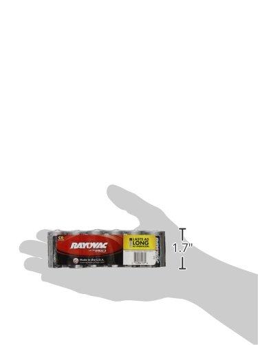 Rayovac C Batteries, Ultra Pro Alkaline C Cell Batteries (6 Battery Count) (ALC-6J)