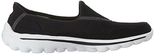 Black Skechers Nero White Sneaker 2 Go Walk Donna TqrPTYA