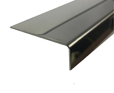 2000mm Edelstahl Winkel 0,8mm glänzend Eckleiste Eckenschutz Spiegel Effekt VA