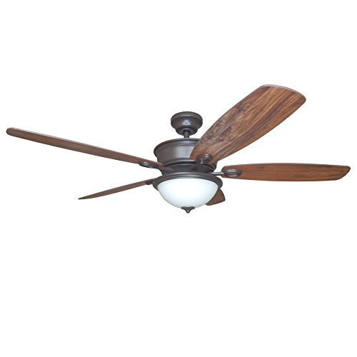 Cheap Bayou Creek 56-in Oil Rubbed Bronze Downrod or Close Mount Indoor Residential Ceiling Fan with Light Kit and Remote