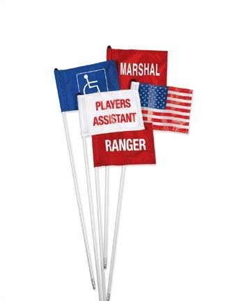 Standard Golf Cart Identification Flag - Marshal