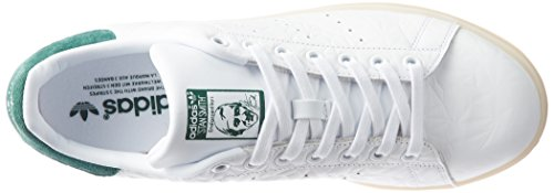 Femme Stan Basses Baskets adidas Blanc Cgreen Wht Smith Ftwwht 1BqxO