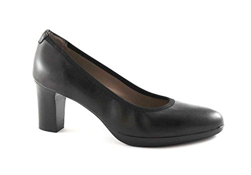 MELLUSO D5110V zapatos negros dcollet estiran la piel de la mujer Nero