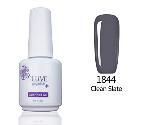 iLuve Long Lasting Soak Off Nail Polish with 238 Color Choices | 1 bottle with 15ml of UV Gel Polish | Clean Slate Color #1844