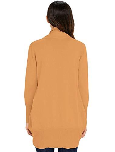 Lunghe Lingt Con Maniche A Cardigan colore Xxl Dimensione Fuxitoggo Orange Da Donna WAa6gn