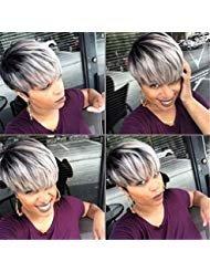 (Fashion Charm Women Ladies Short Mix Grey Natural Hair)