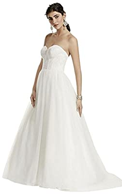 Strapless Wedding Dress with Lace Corset Bodice Style WG3633