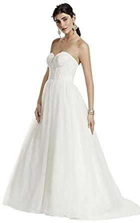 Strapless Wedding Dress with Lace Corset Bodice Style WG3633 at ...