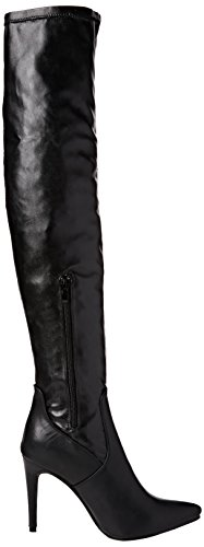 Toe Pointed Stretch high Black Over Size Ajvani The Heel Ladies Boots Riding Elastic Knee Womens Matte 6gzgnwX