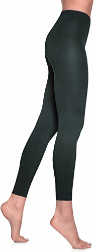 Lupo Women's Leggings, Medium Graphite Gray Mix - Graphite Gray Base