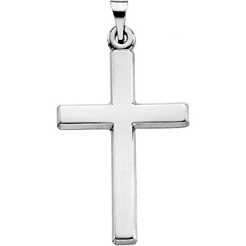 FB Jewels Platinum 24.5X16.5 mm Polished Cross - Platinum Jewel