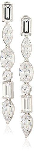 nicole-miller-multi-cut-linear-rhodium-drop-earrings