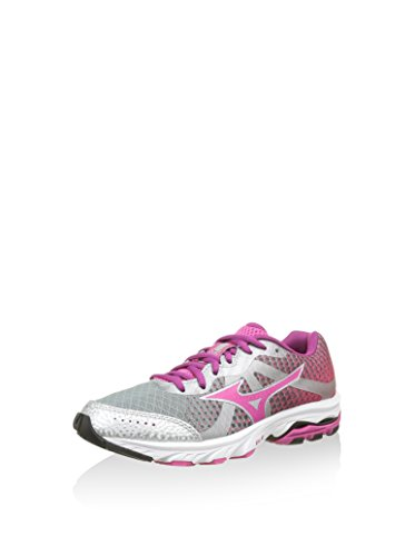 Mizuno Wave Elevation Wos, Chaussures de Running Femme, Violett SILVER-FUCSIA PURPLE