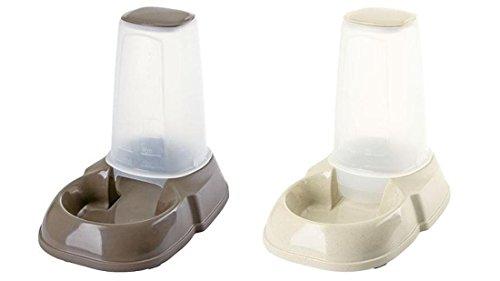 Futterspender und Wasserspender jeweils 1,5 Liter Fassungsvermögen für Katzen und kleine Hunde im Set