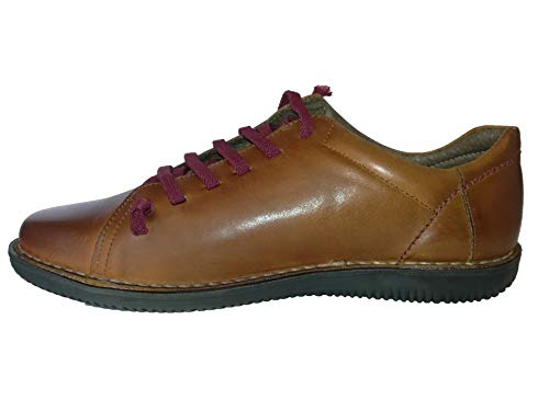 Boleta Zapato Señora Cordones 0200 Ocre Piel 66gwTx