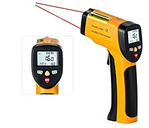 Temperature Gun Gright Dual Laser Non-Contact Infrared Thermometer -58°F to 1202°F - Accurate NIST Traceable Digital Surface IR Thermometer eT650D