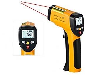 Temperatura Pistola gright doble láser termómetro de infrarrojos sin contacto -58 °F a 1202