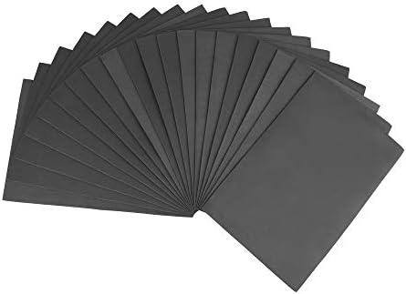 ewtshop® 20 Blatt Moosgummi, schwarz, Schaumstoff für Bastelarbeiten, Format: 21,0 x 29,7 cm DIN A
