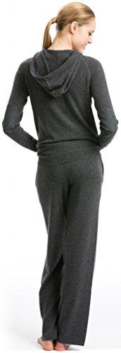 Pantalones Deporte Mujer - 100% Cachemira - por Citizen Cashmere Gris Oscuro