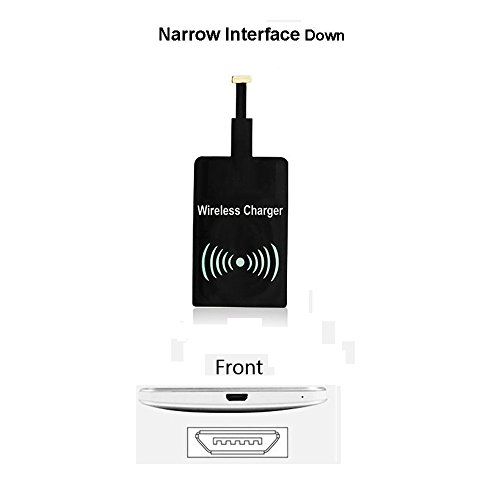(QI Wireless Charger Receiver, Joylink Universal Type B Android Wireless Charging Receiver Film Patch Module Compatible with HTC/ViVo/ASUS/Oppo, Narrow Interface Down )