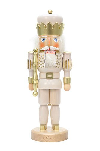 German Christmas Nutcracker King White - 37,5cm / 15 inch - Christian Ulbricht by Authentic German Erzgebirge Handcraft
